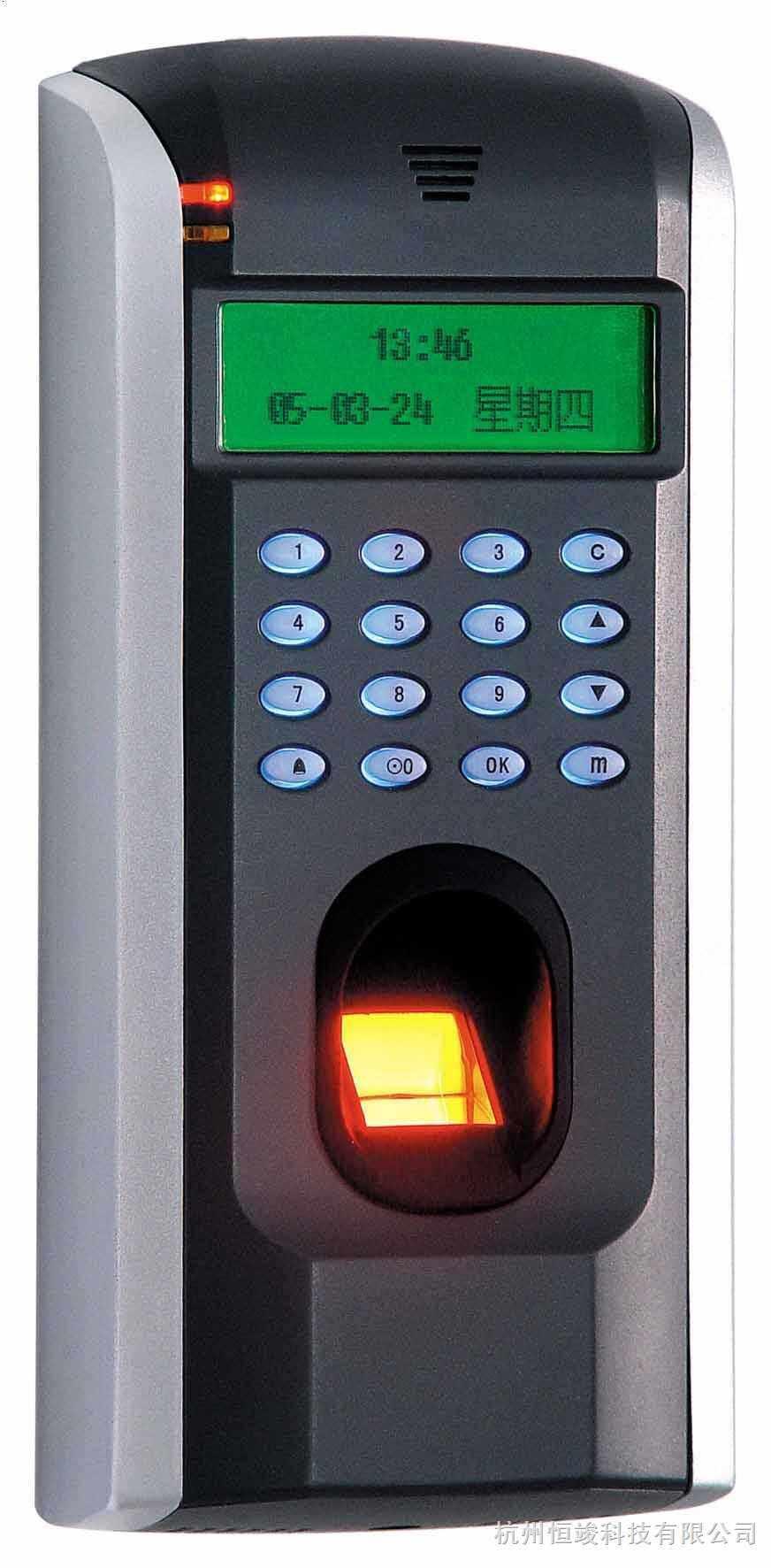 推出针对办公环境的普及指纹门禁,采用大量可靠稳定的进口元器件,设计上严格 遵循国家安全防范产品标准,出厂经过严格的老化测试。适合用在办公门禁安装或者在企业内 部的一些非重要出入口安装使用。显著特点是:安装简单,性能稳定,价格甚至低于IC/ID 卡门禁系统整体成本,并且大幅度提升公司形象。 标准版支持TCP/IP或RS485/RS232通讯,支持单机或联网工作,单机工作可存储达3万条记录。 支持门禁功能(不同时间段开门,多人开门,拆机报警,门未关好报警,门被非法打开报警,开 门按钮输入,有线门铃接口,一路警
