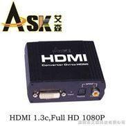 DVI+光纖同軸轉HDMI信號轉換器 1080P