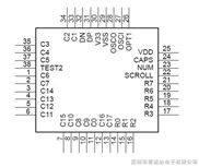USB键盘方案、USB键盘IC、USB键盘芯片MC178-04B.
