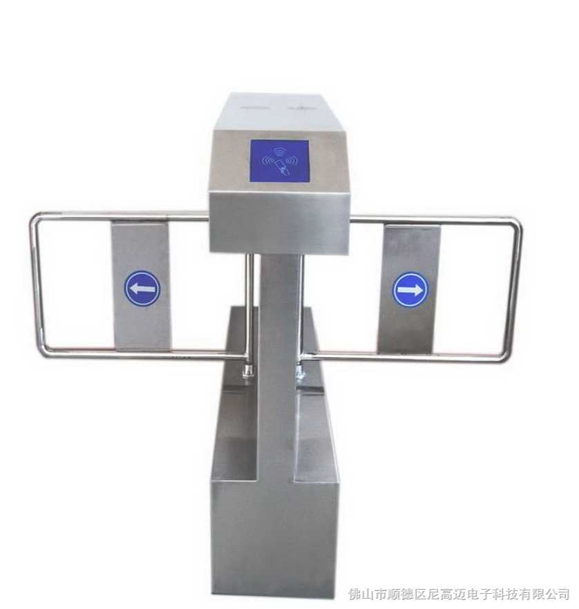 桥式斜角双机芯智能摆闸(单向双通道图)
